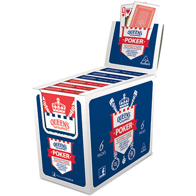 Image for QUEENS SLIPPER PLAYING CARDS POKER 52S LARGE IMAGE PACK BOX 12 from OFFICE NATIONAL CANNING VALE, JOONDALUP & OFFICE TOOLS OPD