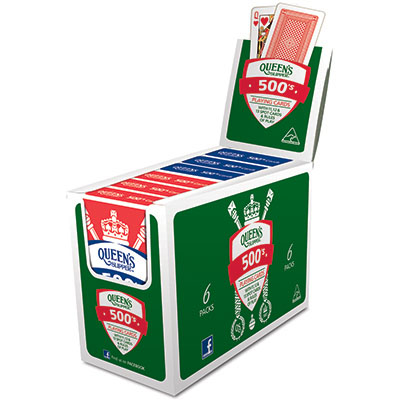 Image for QUEENS SLIPPER PLAYING CARDS 500S SINGLES PACK BOX 12 from OFFICE NATIONAL CANNING VALE, JOONDALUP & OFFICE TOOLS OPD