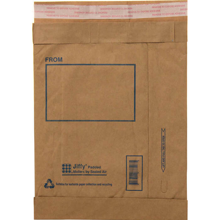 Image for JIFFY PADDED SELF-SEAL MAILER P4 240 X 340MM BOX 100 from Our Town & Country Office National