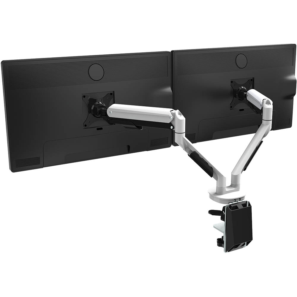 Image for CUTLASS DOUBLE MONITOR ARM WHITE from Copylink Office National