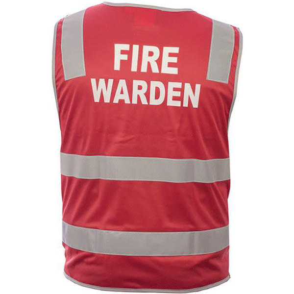 Image for TRAFALGAR HI-VIS FIRE WARDEN VEST DAY/NIGHT RED LARGE from OFFICE NATIONAL CANNING VALE, JOONDALUP & OFFICE TOOLS OPD