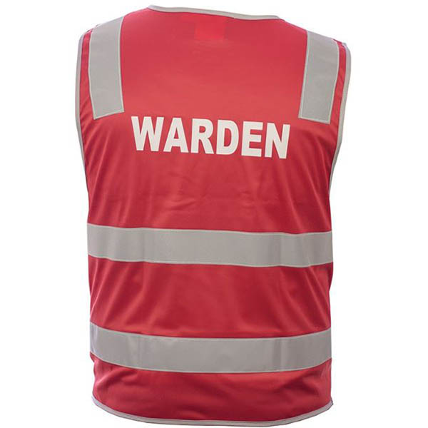Image for TRAFALGAR HI-VIS WARDEN VEST DAY/NIGHT RED LARGE from OFFICE NATIONAL CANNING VALE, JOONDALUP & OFFICE TOOLS OPD