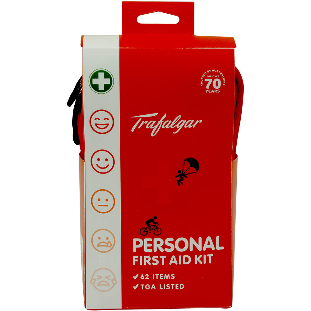 Image for TRAFALGAR PERSONAL FIRST AID KIT SOFT PACK from PaperChase Office National