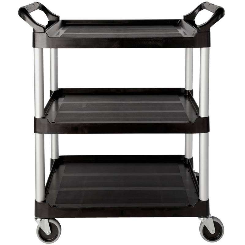 Image for RUBBERMAID UTILTY CART TROLLEY 3 SHELF BLACK from Office National Capalaba