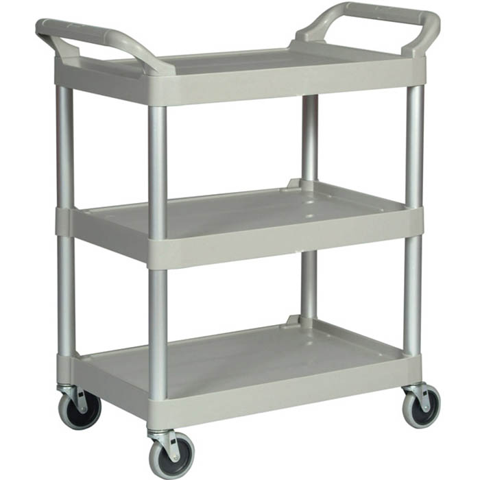 Image for RUBBERMAID UTILTY CART TROLLEY 3 SHELF PLATINUM from Office National Capalaba