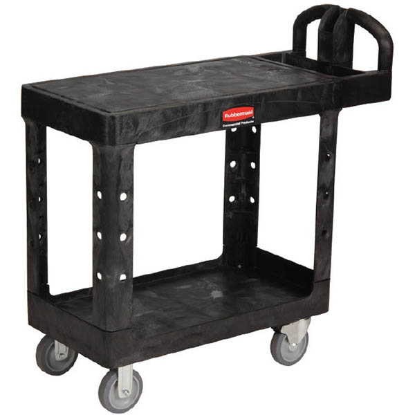 Image for RUBBERMAID HEAVY DUTY UTILITY CART FLAT SHELF 227KG BLACK from Office National Capalaba