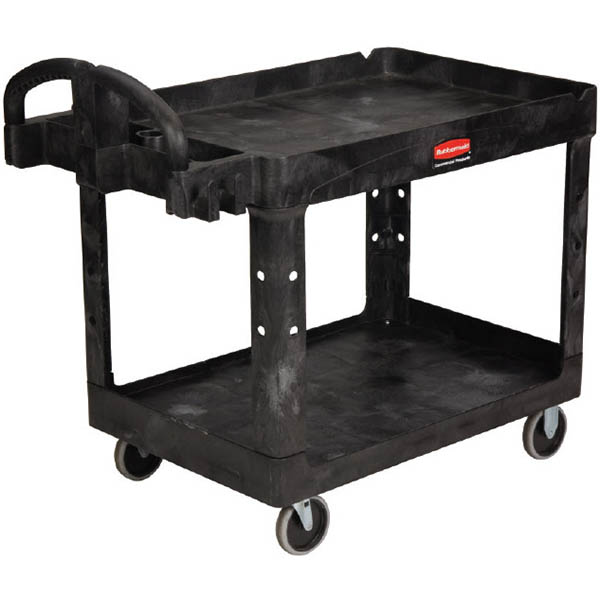 Image for RUBBERMAID HEAVY DUTY UTILITY CART WITH LIP 227KG BLACK from Office National Capalaba