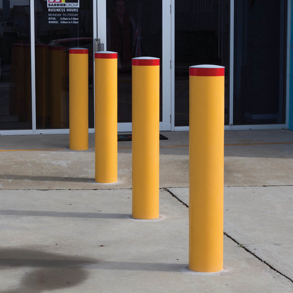 Image for BRADY BOLLARD FIXED HEAVY DUTY SQUARE BELOW GROUND 1000 X 90MM YELLOW from Wetherill Park / Smithfield Office National