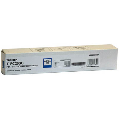 Image for TOSHIBA TFC26SC TONER CARTRIDGE CYAN from OFFICE NATIONAL CANNING VALE, JOONDALUP & OFFICE TOOLS OPD