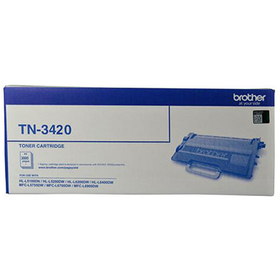 Image for BROTHER TN3420 TONER CARTRIDGE BLACK from City Stationery Office National