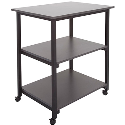 Image for RAPID WORKER TROLLEY 3 TIER 800 X 600 X 900MM IRONSTONE from Office National Capalaba