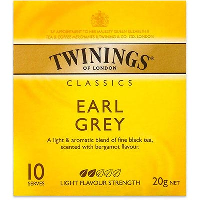 Image for TWININGS TEA BAGS EARL GREY PACK 10 from Office National Capalaba