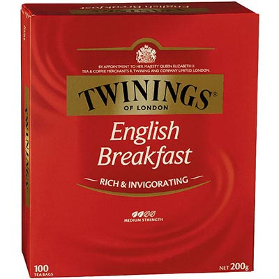 Image for TWININGS TEA BAGS ENGLISH BREAKFAST PACK 100 from Our Town & Country Office National
