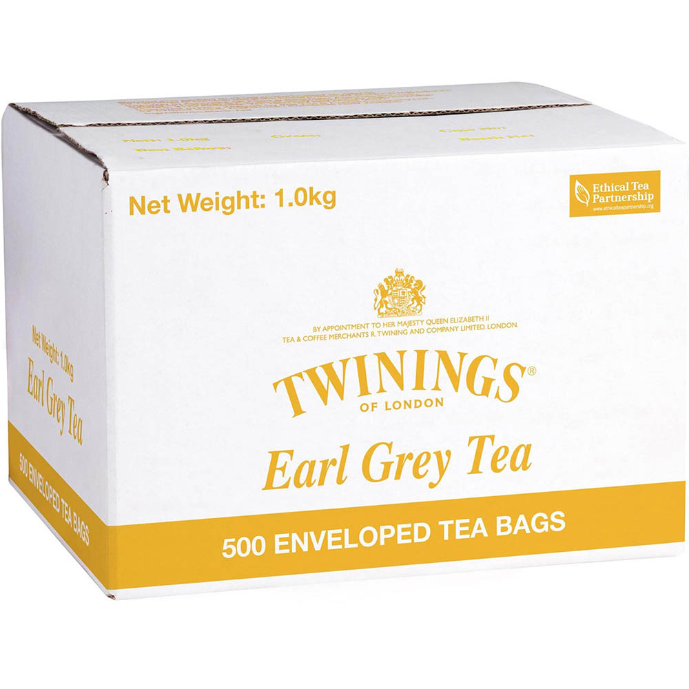 Image for TWININGS ENVELOPE TEA BAGS EARL GREY CARTON 500 from Office National Capalaba