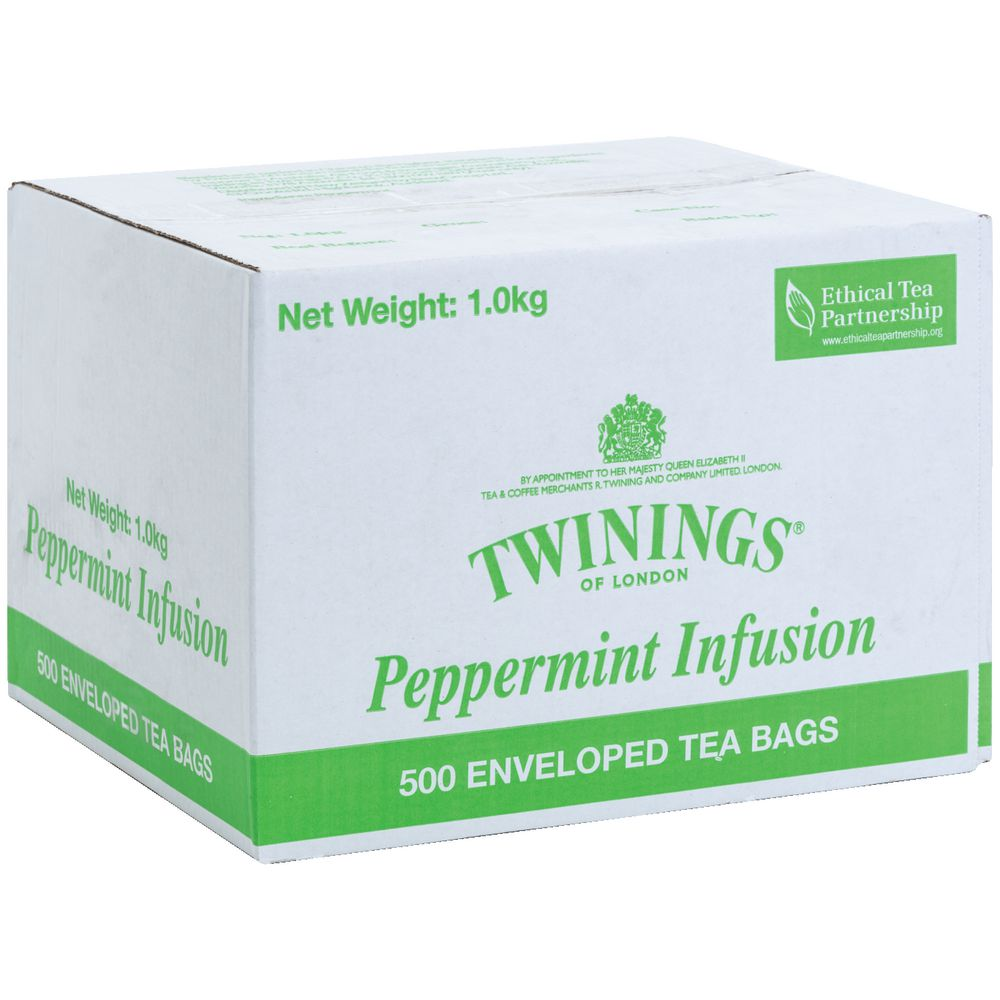 Image for TWININGS ENVELOPE TEA BAGS PEPPERMINT CARTON 500 from Office National Capalaba