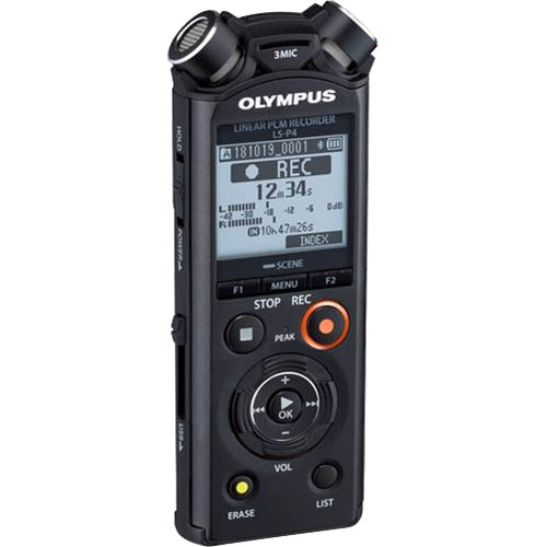 Image for OLYMPUS LS-P4 DIGITAL VOICE RECORDER BLACK from Office National Capalaba