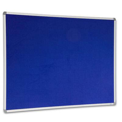 Image for VISIONCHART CORPORATE FELT PINBOARD ALUMINIUM FRAME 1500 X 1200MM ROYAL BLUE from Office National Capalaba