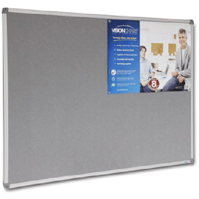 Image for VISIONCHART CORPORATE FELT PINBOARD ALUMINIUM FRAME 1500 X 1200MM GREY from Office National Capalaba