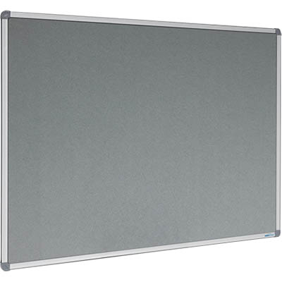 Image for VISIONCHART CORPORATE FELT PINBOARD ALUMINIUM FRAME 1500 X 900MM GREY from Office National Capalaba