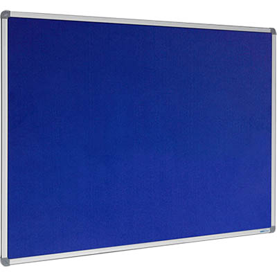 Image for VISIONCHART CORPORATE FELT PINBOARD ALUMINIUM FRAME 2400 X 1200MM ROYAL BLUE from Office National Capalaba