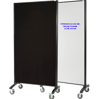 Image for VISIONCHART COMMUNICATE ROOM DIVIDER WHITEBOARD WITH PINNABLE FABRIC 1800 X 900MM WHITE / CHARCOAL from Office National Capalaba