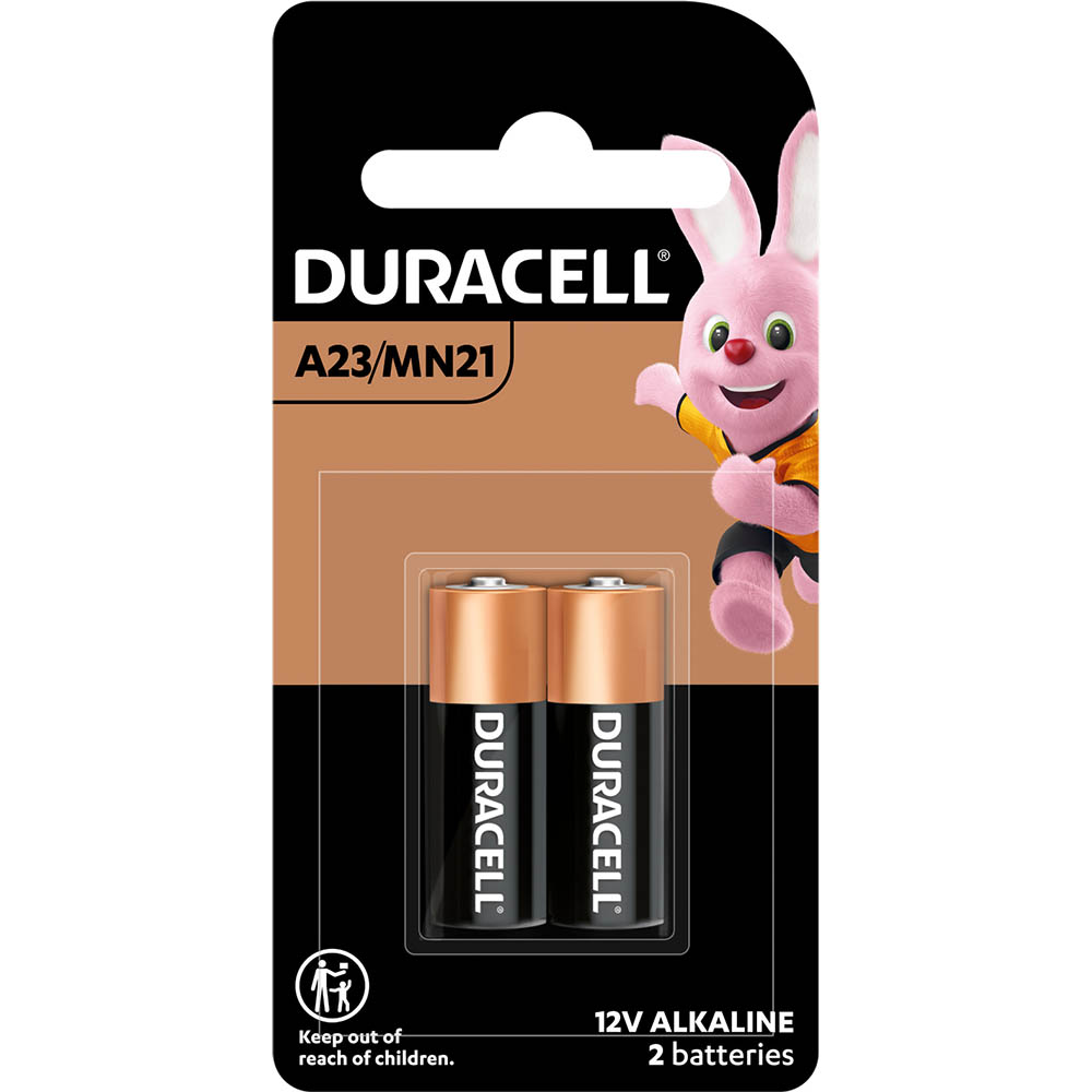 Image for DURACELL A23/MN21 ALKALINE 12V SECURITY BATTERY PACK 2 from Office National Capalaba