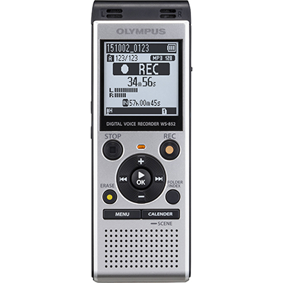 Image for OLYMPUS WS-852 DIGITAL DICTATION RECORDER WITH TRUE STEREO from Office National Capalaba