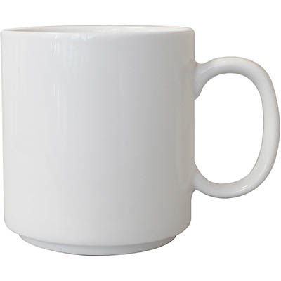 Image for CONNOISSEUR STACKABLE MUG 300ML WHITE PACK 6 from Office National Capalaba
