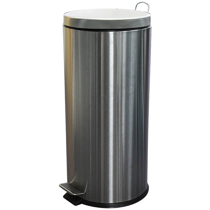 Image for COMPASS ROUND PEDAL BIN 30 LITRE STAINLESS STEEL from Wetherill Park / Smithfield Office National