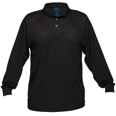 Image for PRIME MOVER MP103 MICRO MESH POLO SHIRT LONG SLEEVE from OFFICE NATIONAL CANNING VALE, JOONDALUP & OFFICE TOOLS OPD