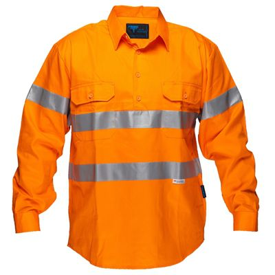 Image for PRIME MOVER MC191 HI VIS DRILL SHIRT LONG SLEEVE CLOSED FRONT WITH TAPE FULL COLOUR from OFFICE NATIONAL CANNING VALE, JOONDALUP & OFFICE TOOLS OPD