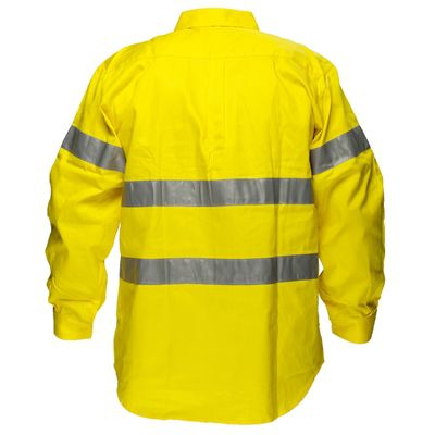 Image for PRIME MOVER MA191 HI VIS COTTON DRILL SHIRT LONG SLEEVE WITH TAPE FULL COLOUR from OFFICE NATIONAL CANNING VALE, JOONDALUP & OFFICE TOOLS OPD