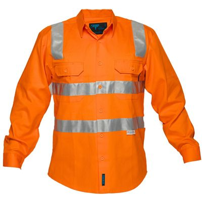 Image for PRIME MOVER MS191 HI VIS COTTON DRILL SHIRT LONG SLEEVE WITH TAPE OVER SHOULDER FULL COLOUR from OFFICE NATIONAL CANNING VALE, JOONDALUP & OFFICE TOOLS OPD