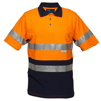 Image for PRIME MOVER MP618 HI VIS COTTON PIQUE POLO SHIRT SHORT SLEEVE WITH TAPE 2 TONE from OFFICE NATIONAL CANNING VALE, JOONDALUP & OFFICE TOOLS OPD