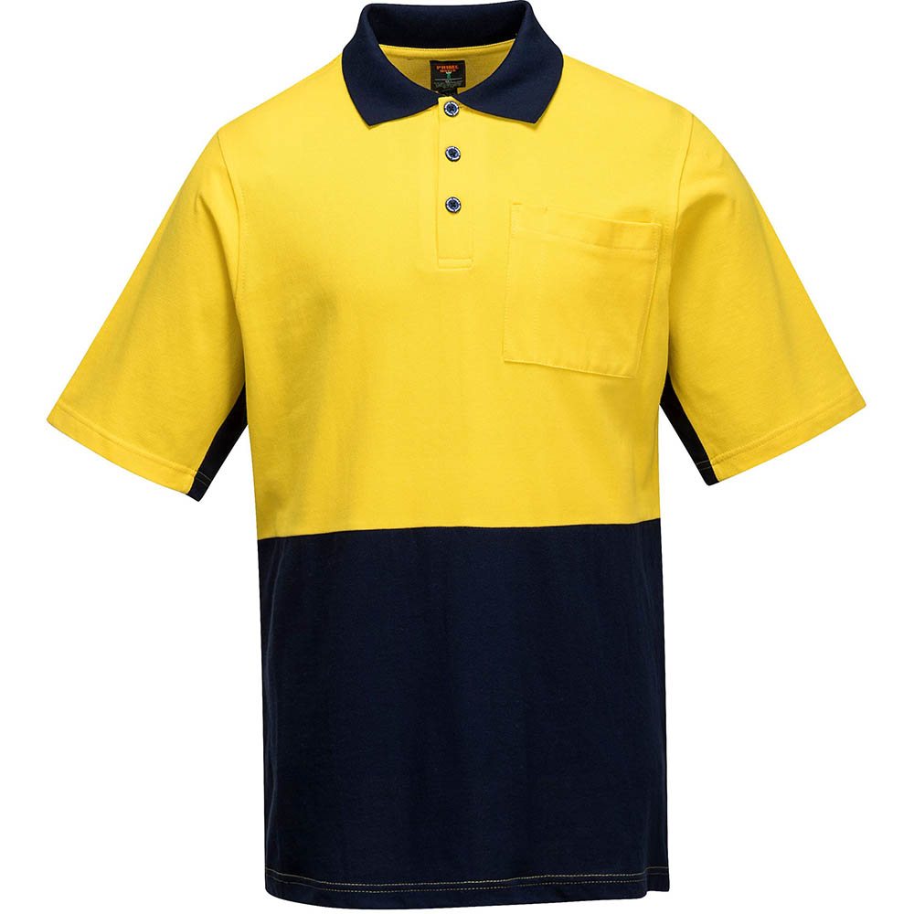 Image for PRIME MOVER MD618 HI-VIS POLO SHIRT SHORT SLEEVE COTTON PIQUE 2-TONE from OFFICE NATIONAL CANNING VALE, JOONDALUP & OFFICE TOOLS OPD