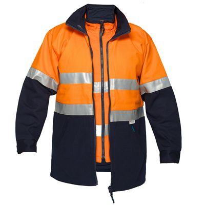 Image for PRIME MOVER MJ777 HI VIS JACKET 2 TONE 4-IN-1 WITH VEST 3M TAPE ZIP from OFFICE NATIONAL CANNING VALE, JOONDALUP & OFFICE TOOLS OPD