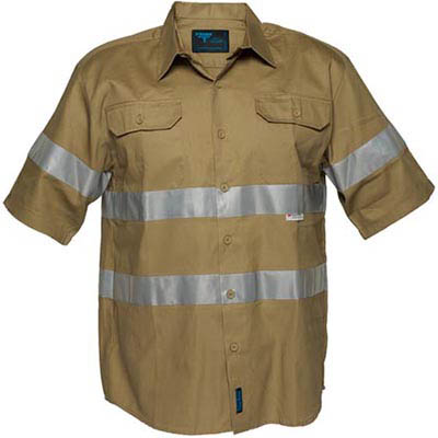 Image for PRIME MOVER MA909 COTTON DRILL SHIRT SHORT SLEEVE WITH TAPE from OFFICE NATIONAL CANNING VALE, JOONDALUP & OFFICE TOOLS OPD