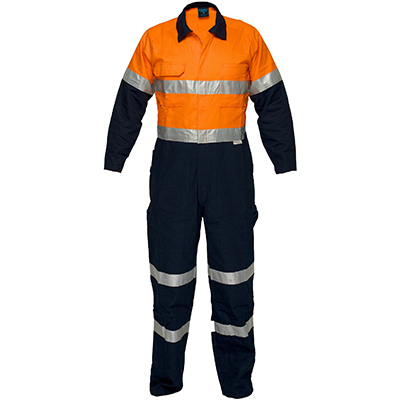 Image for PRIME MOVER MA931 REGULAR WEIGHT COVERALL WITH METAL STUD CLOSURE AND TAPE 2 TONE from Emerald Office Supplies
