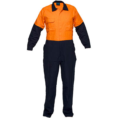 Image for PRIME MOVER MW931 REGULAR WEIGHT COVERALL WITH METAL STUD CLOSURE 2 TONE from OFFICE NATIONAL CANNING VALE, JOONDALUP & OFFICE TOOLS OPD