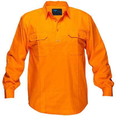 Image for PRIME MOVER MC988 COTTON DRILL SHIRT LONG SLEEVE CLOSED FRONT from OFFICE NATIONAL CANNING VALE, JOONDALUP & OFFICE TOOLS OPD