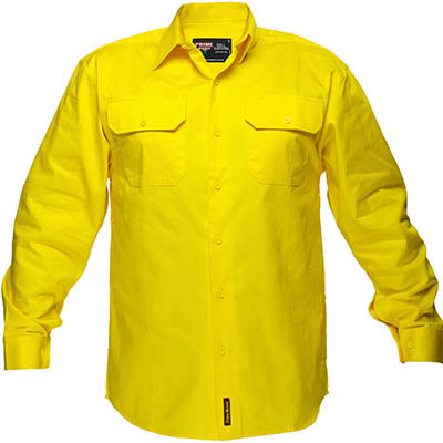 Image for PRIME MOVER MS988 COTTON DRILL SHIRT LONG SLEEVE from OFFICE NATIONAL CANNING VALE, JOONDALUP & OFFICE TOOLS OPD