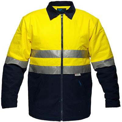 Image for PRIME MOVER MJ987 COTTON DRILL JACKET QUILT PADDED WITH ZIP CLOSURE 2 TONE from Office National Capalaba