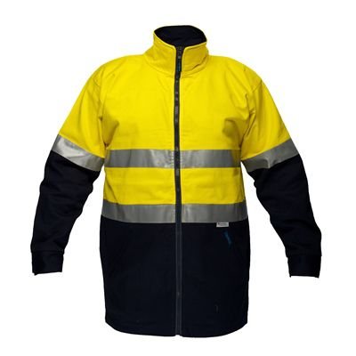 Image for PRIME MOVER MJ998 HI VIS JACKET COTTON DRILL DAY/NIGHT ZIP CLOSURE from Office National Capalaba