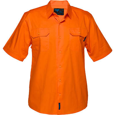 Image for PRIME MOVER MS302 COTTON DRILL SHIRT SHORT SLEEVE LIGHTWEIGHT ORANGE from OFFICE NATIONAL CANNING VALE, JOONDALUP & OFFICE TOOLS OPD