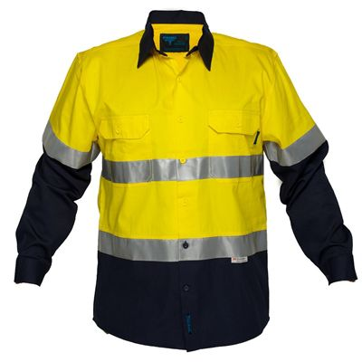 Image for PRIME MOVER MA801 COTTON DRILL SHIRT LONG SLEEVE LIGHTWEIGHT WITH TAPE 2 TONE from OFFICE NATIONAL CANNING VALE, JOONDALUP & OFFICE TOOLS OPD