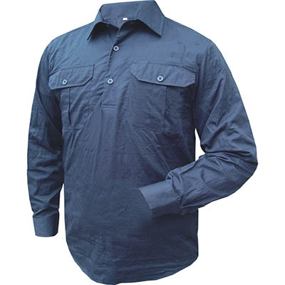 Image for PRIME MOVER MC903 COTTON SHIRT LONG SLEEVE LIGHTWEIGHT CLOSED FRONT from PaperChase Office National