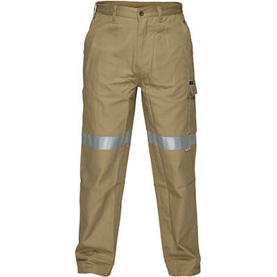 Image for PRIME MOVER MP701 COTTON DRILL PANTS WITH CARGO POCKETS AND TAPE from Emerald Office Supplies