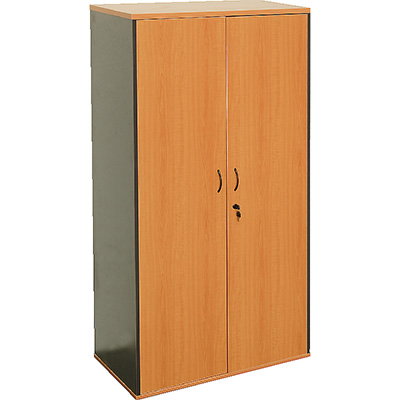Image for OXLEY FULL DOOR STORAGE CUPBOARD 900 X 450 X 1800MM BEECH/IRONSTONE from Wetherill Park / Smithfield Office National