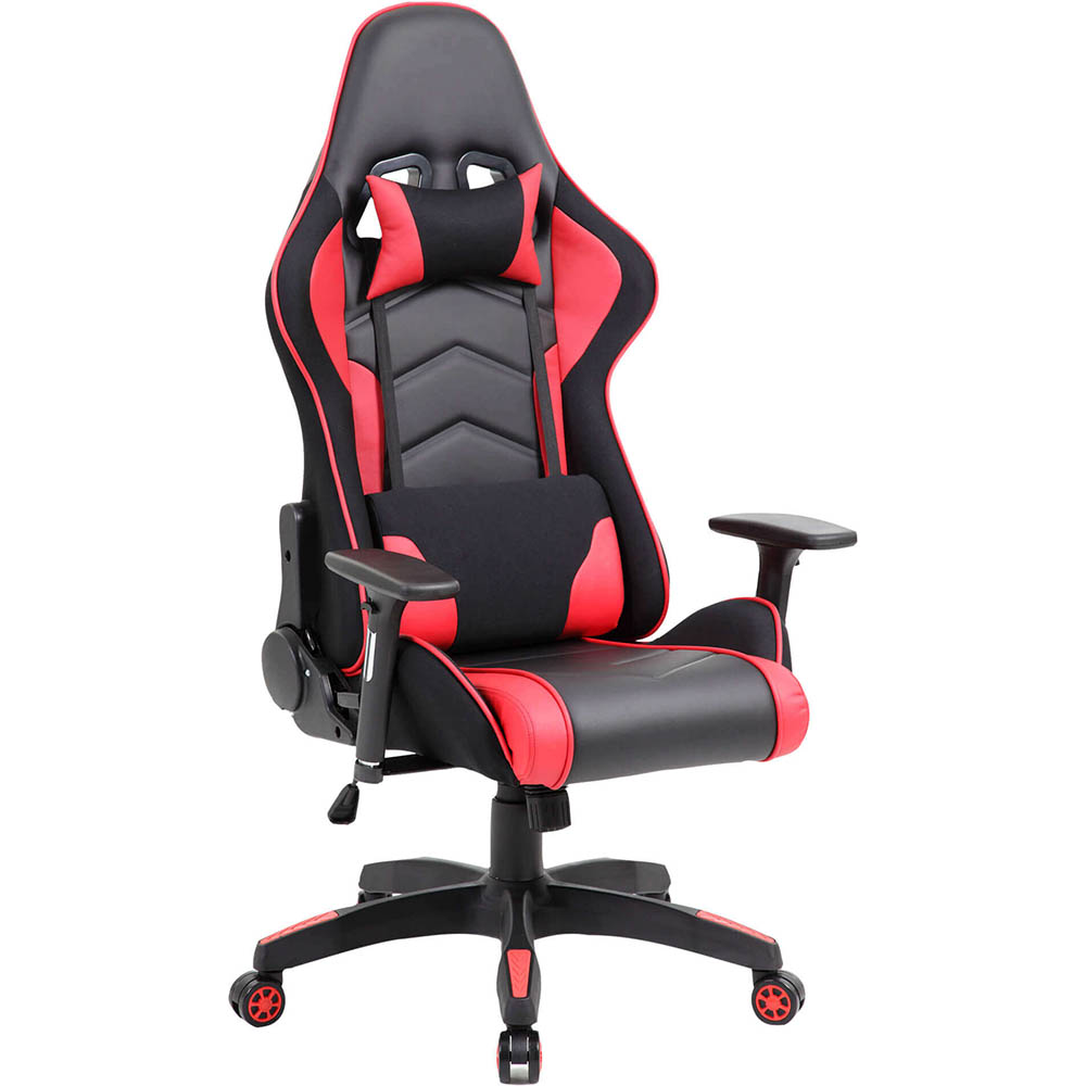 Image for MUSTANG GAMING CHAIR HIGH BACK ARMS PU RED/BLACK from OFFICE NATIONAL CANNING VALE, JOONDALUP & OFFICE TOOLS OPD