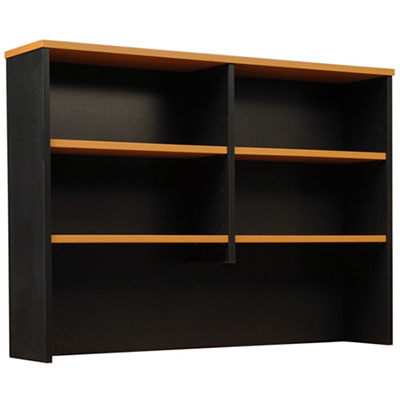 Image for OXLEY HUTCH 1200 X 315 X 1075MM BEECH/IRONSTONE from Pirie Office National